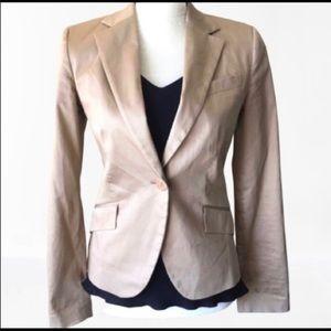 Zara Cotton Blazer color tan (S size)